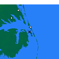 Nearby Forecast Locations - Manteo - Map