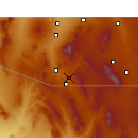 Nearby Forecast Locations - Nogales - Map