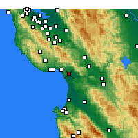 Nearby Forecast Locations - Watsonville - Map