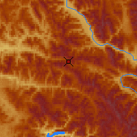 Nearby Forecast Locations - Mullan Pass - Map