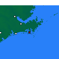 Nearby Forecast Locations - Beaufort - Map