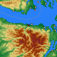 Nearby Forecast Locations - Port Angeles - Map