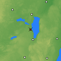 Nearby Forecast Locations - Oshkosh - Map