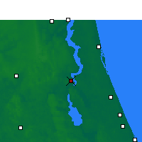 Nearby Forecast Locations - Palatka - Map