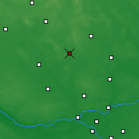 Nearby Forecast Locations - Ciechanów - Map