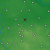 Nearby Forecast Locations - Piątek - Map