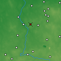 Nearby Forecast Locations - Zduńska Wola - Map