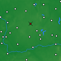 Nearby Forecast Locations - Gniezno - Map