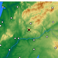 Nearby Forecast Locations - Vila de Rei - Map