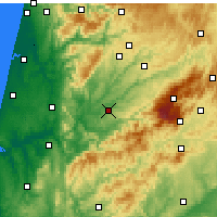 Nearby Forecast Locations - Tábua - Map