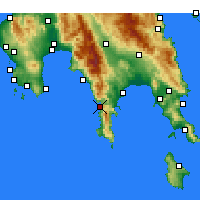 Nearby Forecast Locations - Areopoli - Map