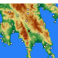 Nearby Forecast Locations - Sparta - Map