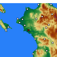 Nearby Forecast Locations - Pyrgos - Map