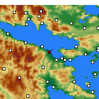 Nearby Forecast Locations - Kiato - Map