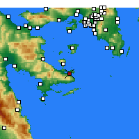 Nearby Forecast Locations - Poros - Map
