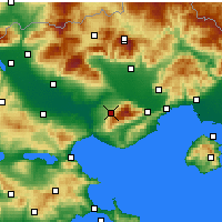 Nearby Forecast Locations - Rodolivos - Map