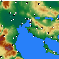 Nearby Forecast Locations - Epanomi - Map