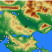 Nearby Forecast Locations - Nigrita - Map