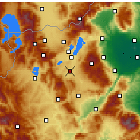 Nearby Forecast Locations - Ptolemaida - Map
