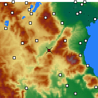 Nearby Forecast Locations - Servia - Map