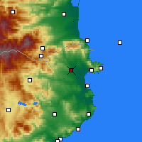 Nearby Forecast Locations - Figueres - Map