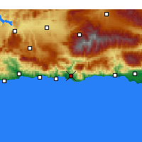 Nearby Forecast Locations - Motril - Map