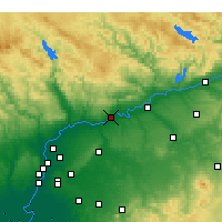 Nearby Forecast Locations - Lora del Río - Map