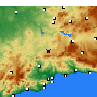 Nearby Forecast Locations - Antequera - Map