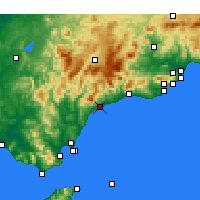 Nearby Forecast Locations - Estepona - Map