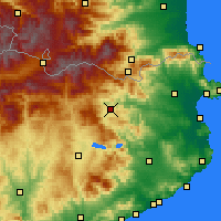 Nearby Forecast Locations - Olot - Map