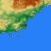 Nearby Forecast Locations - Saint-Tropez - Map