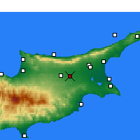 Nearby Forecast Locations - Ercan Intl. Airport - Map