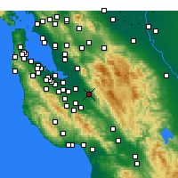 Nearby Forecast Locations - San Jose/Reid - Map