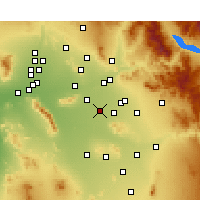 Nearby Forecast Locations - Chandler - Map