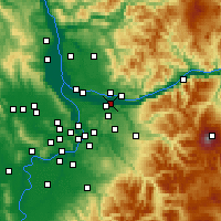 Nearby Forecast Locations - Troutdale - Map