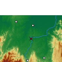 Nearby Forecast Locations - Caucasia - Map
