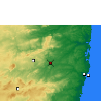 Nearby Forecast Locations - Limoeiro - Map