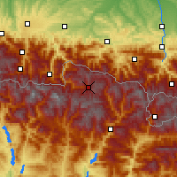 Nearby Forecast Locations - Baqueira-Beret - Map