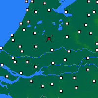 Nearby Forecast Locations - Woerden - Map
