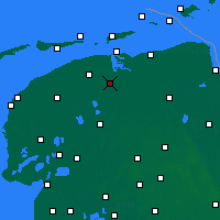 Nearby Forecast Locations - Kollumerland c.a. - Map