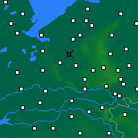 Nearby Forecast Locations - Nijkerk - Map