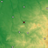 Nearby Forecast Locations - Bellac - Map