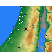Nearby Forecast Locations - Beit Shemesh - Map