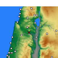 Nearby Forecast Locations - Kfar Yehezkel - Map