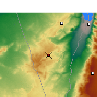 Nearby Forecast Locations - Mitzpe Ramon - Map
