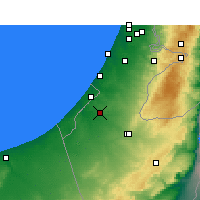 Nearby Forecast Locations - Netivot - Map