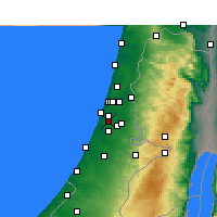Nearby Forecast Locations - Rishon LeZion - Map