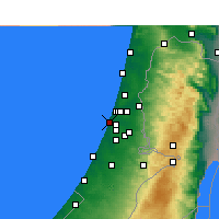 Nearby Forecast Locations - Bat Yam - Map