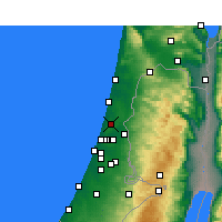 Nearby Forecast Locations - Ra'anana - Map