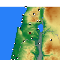 Nearby Forecast Locations - Nazareth - Map